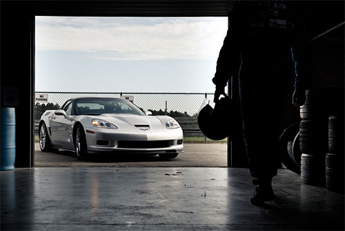 Corvette in Garage